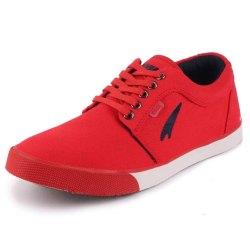 Party Wear Red Lakhani Men Canvas Lace