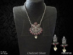 South Indian Temple Pendant Set