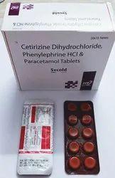 Cetirizine Dihydrochloride Phenylephrine HCI & Paracetamol Tablets