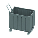 Garbage Bin with Funnel Shaped Lid