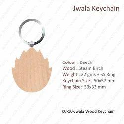 Wooden Keychain-KC-10-Jwala Keychain