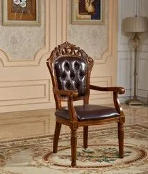 sunny overseas Wooden Craved Chair With Arm