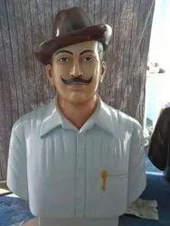 White Marble Bhagat Singh Statue