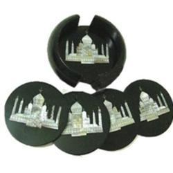 Black Marble Coaster Set