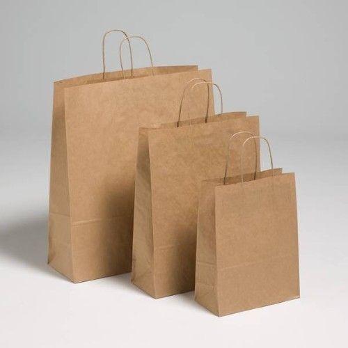 Plain Brown Paper Bag Capacity 2kg