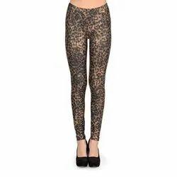 Straight Fit Ladies Printed Party Wear Leggings