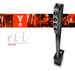 Black JBL Eon One Pro Outdoor Speakers