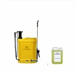 Combo Battery Sprayer With 5ltr. Disinfectant