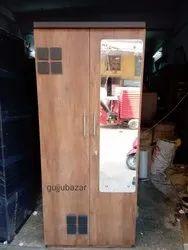 Engineering Wood Two Door Wardrobe, Warranty: 1