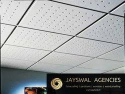 Mineral Fibre Ceiling Tiles Fine Fissured