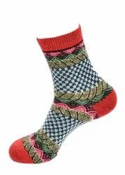 Ladies Designer Woolen Short Socks