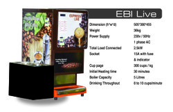 Live South Indian Filter Coffee Vending Machine For Rent