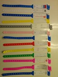 Customised Printed Wristbands for Hospitals with logo