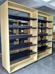 Library Racks Steel with Wooden