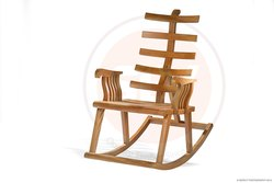 Modern Brown Rocking Chair, For Office