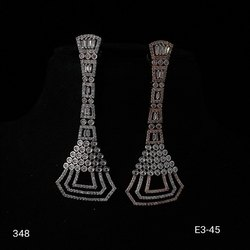American Diamond Long Earring