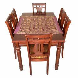 Brocade Silk Blue Center Table Cover 118