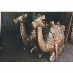 Golden Brass Camel Statue