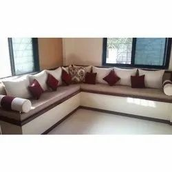 Wooden L Shape Sofa Seating Capacity