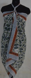 Hand Block Printed Cotton Sarong