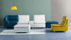 Standard Color Mild Steel Leather Sofa - Ritz Sofa, For Home, Living Room