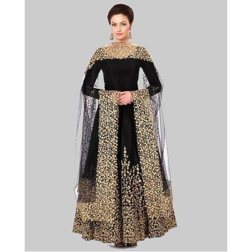 679e97d08f32 Semi-Stitched Designer Full Sleeves Anarkali Suit
