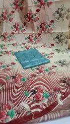 Digital Floral Printed Silk Saree