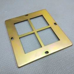 Rectangular Square Display Plate, Size/Dimension: 145mm * 135mm