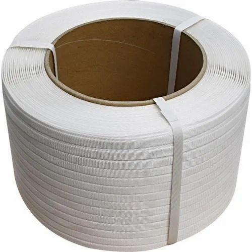 White 15 MM Pet Strap Rolls Plain, Packaging Type: Roll