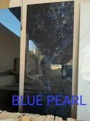 Black Polished Blue Pearl Marbal slabs, For Flooring, Thickness: 15-20 mm