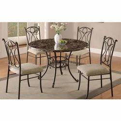 Maxx Furniture Mild Steel 4 Seater Dining Table Set