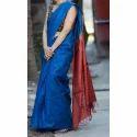 Blue Ghicha Silk Saree