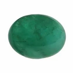 Cabochon-Cut Natural Brazil Emerald