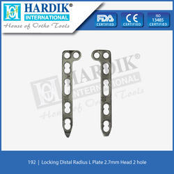 Locking Distal Radius L Plate 2.7mm (Head 2Hole)