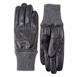 Black Mens Leather Glove