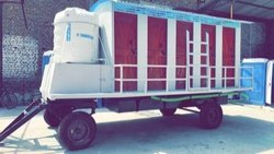5 Compartment FRP Mobile Toilet Mounted