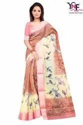Jaipuri Linen 1 Linen Printed Saree