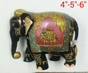 Hand Painted Wooden Elephants