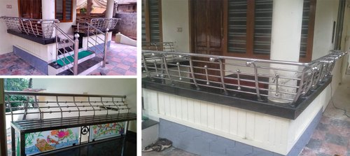 Deck and Sitout Stainless Steel Handrails, SS Handrail ...