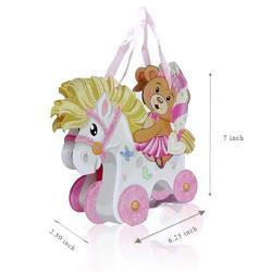 Fancy Gift Printed Teddy Bear Carry Bag Small Size of 6 bag.