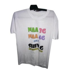 Cotton Mens Round Printed Neck T Shirt