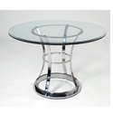 Ss, Glass Mirror Finish Stainless Steel Dining Table, Shape: Round, For Hotel