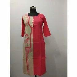 Womens Silk Crepe Kurti