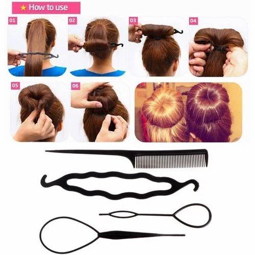 Hair Twist Styling Clip Stick Bun Maker Braid Tool Hair Accessories