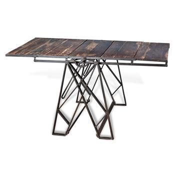 Industrial Loft Convertible Coffee Dining Table
