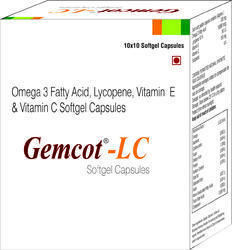 Omega 3 Fatty Acid Lycopene Vitamin E and Vitamin C Softgel Capsules