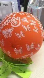 PVC Round Party Balloons, Packaging Type: Plastic, Size: Large