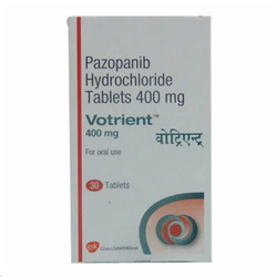Pazopanib Votrient 400mg Tablet, 30 Tablets, Prescription