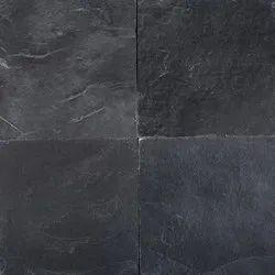 Black Slate Stone Tiles, Thickness: 5-10 mm