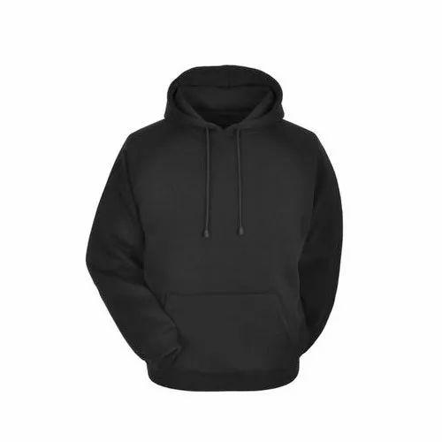 Mens Black Fleece Hoodie